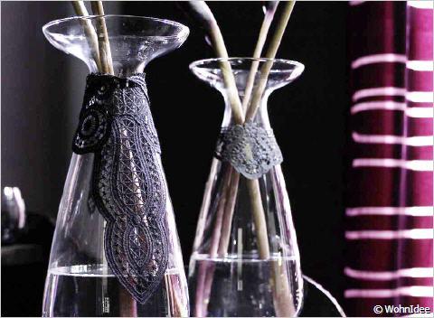 vasen mit motiven aus plauener spitze. Black Bedroom Furniture Sets. Home Design Ideas